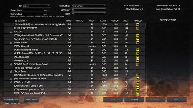 Quale Server scegliere in Conan Exiles?