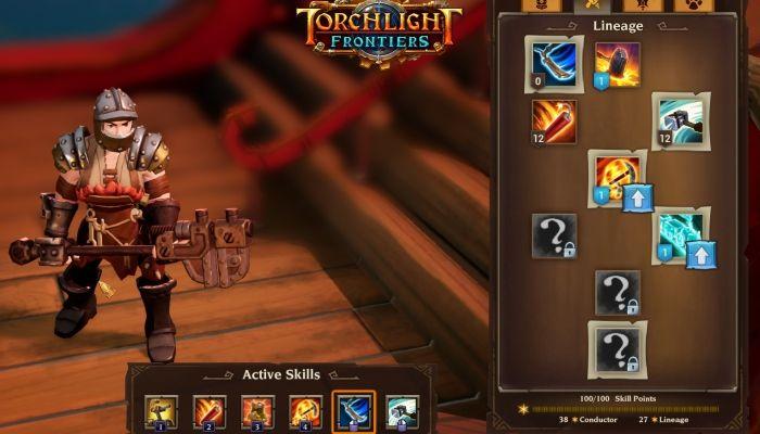 Nuove informazioni sulla progressione delle skills di Torchlight Frontiers