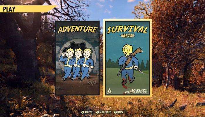 La modalita' Survival di Fallout 76 entrera' in Beta a breve