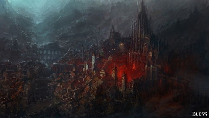 Traveling Through Bless Online Through Original Paintings - Nuove Locations & Concept Art Mostrate