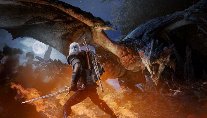 A Febbraio Geralt fara' la sua comparsa in Monster Hunter World
