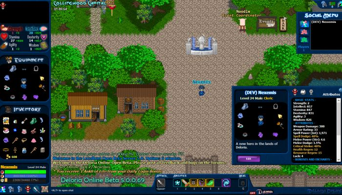 Deloria Online entra in Open Beta