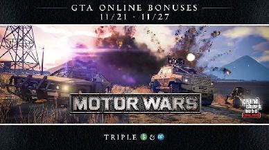 Triple ricompense per il Motor Wars di GTA Online e tanti altri premi