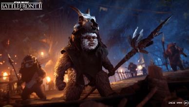 Gli Ewoks si Preparano a Scendere in Battaglia