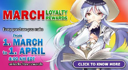 Annunciato il Loyality Program di Marzo