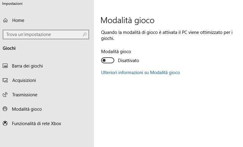 Come migliorare le prestazioni di Windows 10 per giocare ai videogiochi